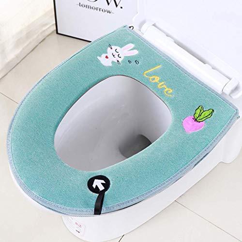 Xiaojie Toiletzitkussen met dikke toiletbedekking toiletbril rits toilet, 10