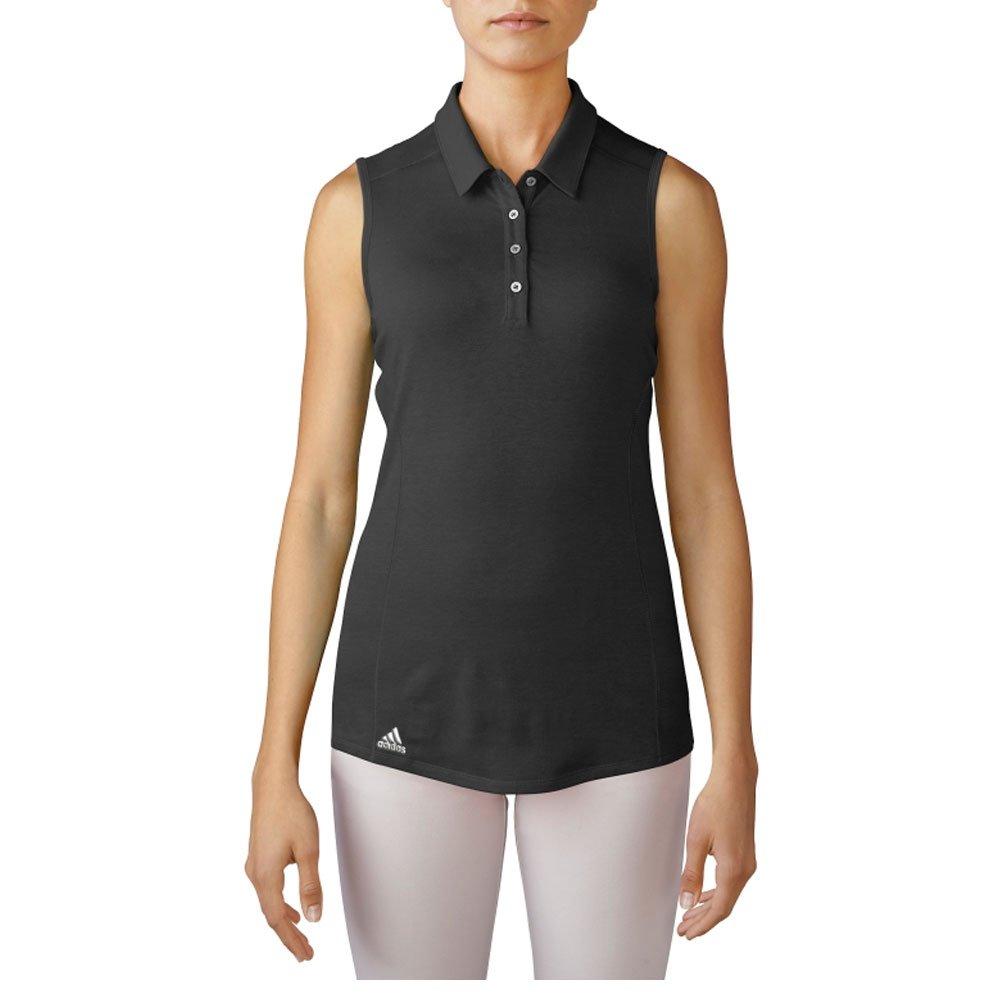 adidas Golf Women's Performance Polo Sleeveless T-Shirt, Black, X-Large