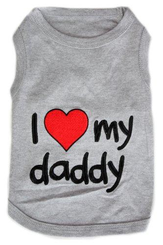 Pet ClothesI LOVE MY DADDYDog T-Shirt-2XL, My Pet Supplies