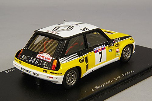 Spark - S3862 - Renault R5 Turbo - Rally Tour de Corse 1982 - Escala 1/43 - Amarillo/Negro/Blanco: Amazon.es: Juguetes y juegos