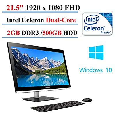 2017 Newest ASUS All-in-One Desktop 21.5-inch, Intel Celeron J1800 Dual-Core, 2GB DDR3, 500 GB HDD, Windows 10 Home