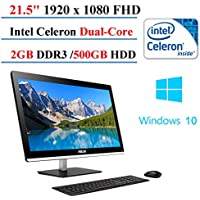ASUS All-in-One Desktop 21.5-inch, Intel Celeron J1800 Dual-Core, 2GB DDR3, 500 GB HDD, Windows 10 Home