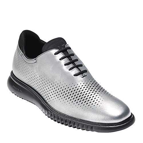 Cole Haan Mens 2.Zerogrand Laser Wing Oxford Silver-black