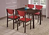 Kings Brand Walnut Finish Wood Dining Room - Kitchen Table