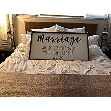 25x50cm Marriage an Endless Sleepover with Your Favorite Weirdo Sign Plaque Master Bedroom Above Bed Sign Plaque Engagement Gift Wedding Gift Marriage cb655613