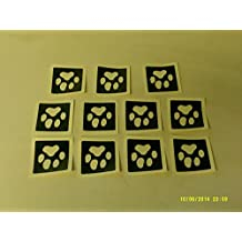 25 x dog paw stencils for etching on glass mixed gift present glassware hobby craft