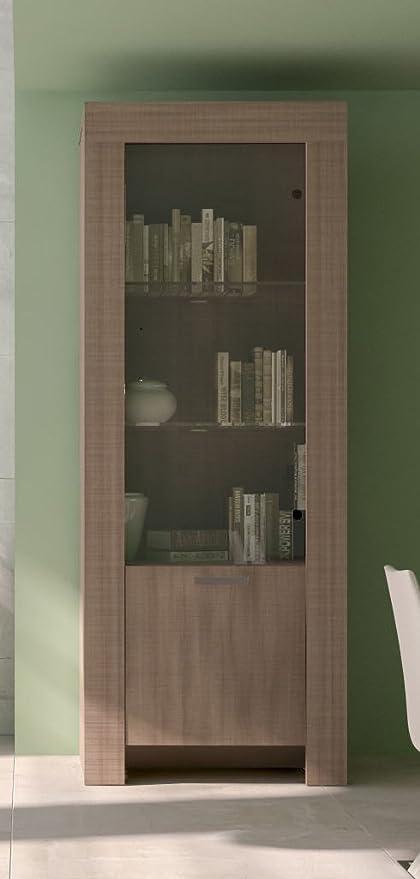 Vetrina per soggiorno modello MAX colore Olmo Eclisse cm L65: Amazon ...