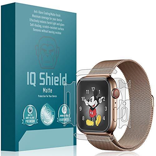 Apple Watch Series 4 Screen Protector [3-Pack], IQ Shield Matte Full Coverage Anti-Glare Screen Protector + Full Body Skin for Apple Watch Series 4 (40mm) Bubble-Free Film