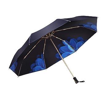 97ade8d26e44 LOPLAY UV Umbrella Sun Parasol, 99% UV Protection Compact Folding Travel  Umbrella- UPF 50+ UV Block Umbrella
