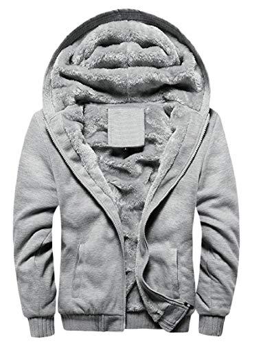Solid Warm Pocket Coats Zipper Jacket Men's Winter Size Fleece Gocgt 2 with Plus Hoodies x0q5wFZn7H
