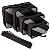YALUXE 4 Set Packing Cubes,Travel Luggage Packing Organizers with Laundry Bag Dark Grey