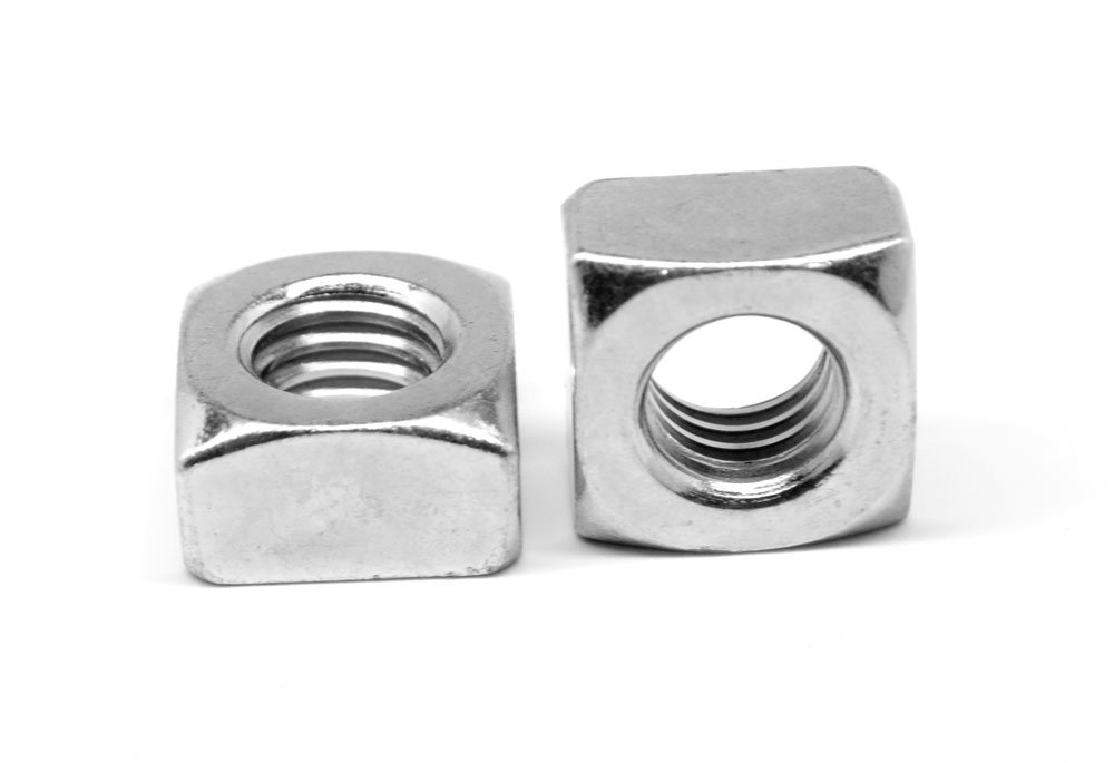 5//8-11 Coarse Thread Grade 2 Regular Square Nut Low Carbon Steel Zinc Plated Pk 50