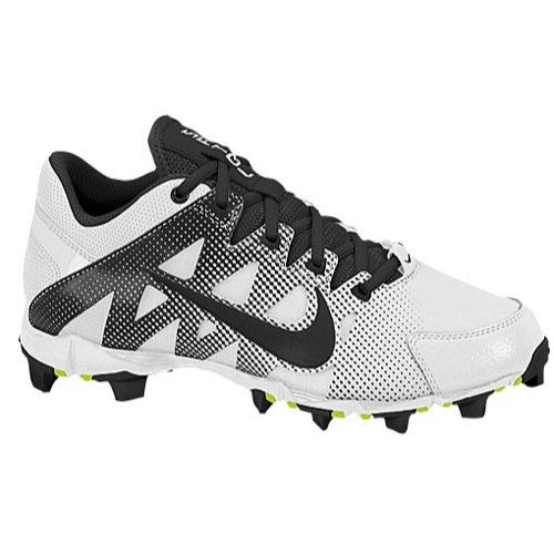 Nike Women's Hyperdiamond Keystone Low Molded Softball Cleats White/Black (12M)