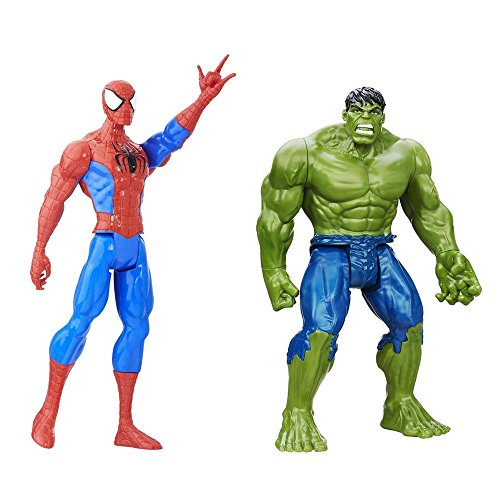 Space Related Halloween Costumes (2 LOT Bundle Marvel Titan Hero Series Hulk and Spider-Man Titan Hero Figure 12
