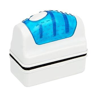 Limpiador de algas de vidrio para acuario, cepillo magnético flotante, herramienta práctica para limpiar