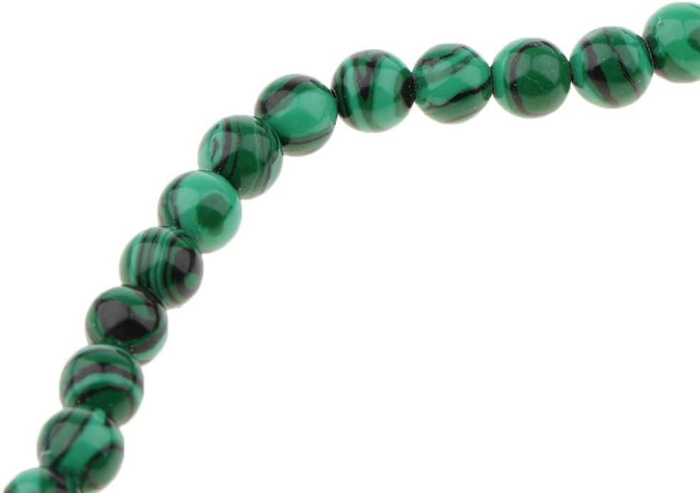 Verde chiwanji Perle di Pietra Naturale di Malachite 4-10mm Distanziatori Rotondi Allentati per Gioielli Fai da Te 4 Millimetri