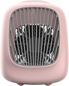 ZJGH Personal Air Cooler, Portable Air Conditioner, USB Powered Personal Evaporative Cooler, 3 Fan Speed Desktop Mini Cooling Fan for Home, Office, Dorm, Car,Pink