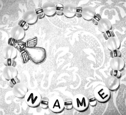 Children's Charm Bracelet – Nomination bracelet – Bracelet with Guardian Angel – White BabYsABC