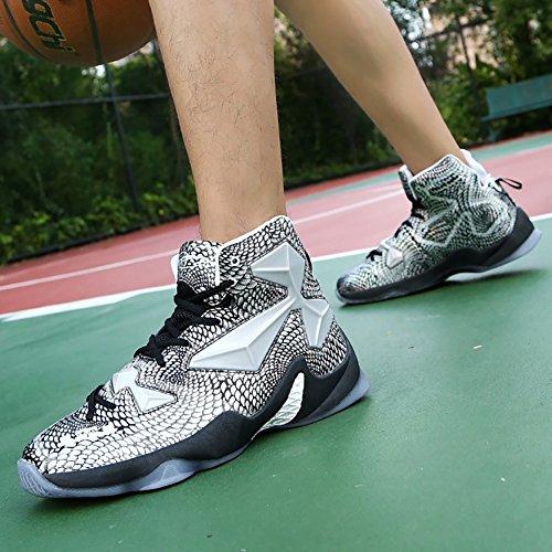 Nr. 66 Stadt Männer Leistung Dämpfung Laufschuhe Sneaker Basketball Schuhe Silber