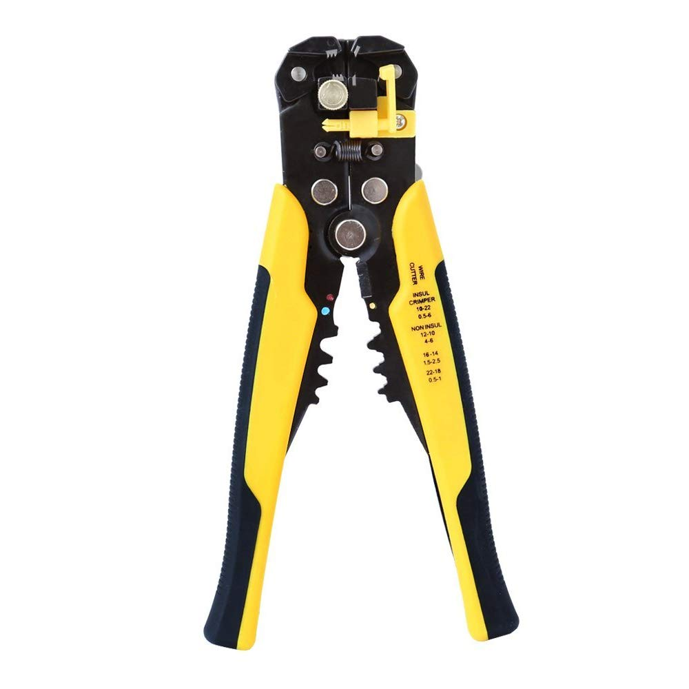 Wire Stripper Cable Cutter Crimper Wire Pliers Automatic Multifunctional Terminal Crimping Stripping Pliers Tools,3 in 1 Multi Pliers for Wire Stripping, Cutting, Crimping