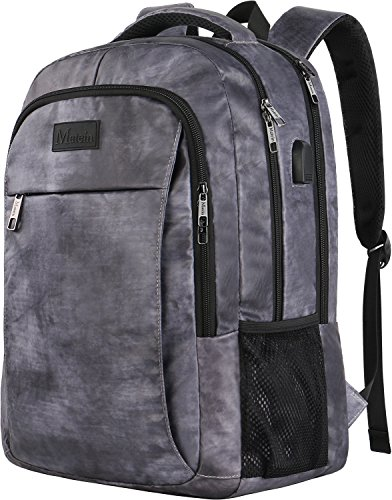 Travel Backpack with USB, Water Resistant Durable College School Backpack with Anti Theft Pocket for Women & Men, Slim Business Laptop Bag Lightweight Laptop BookBag for 15.6-Inch Laptop and Notebook