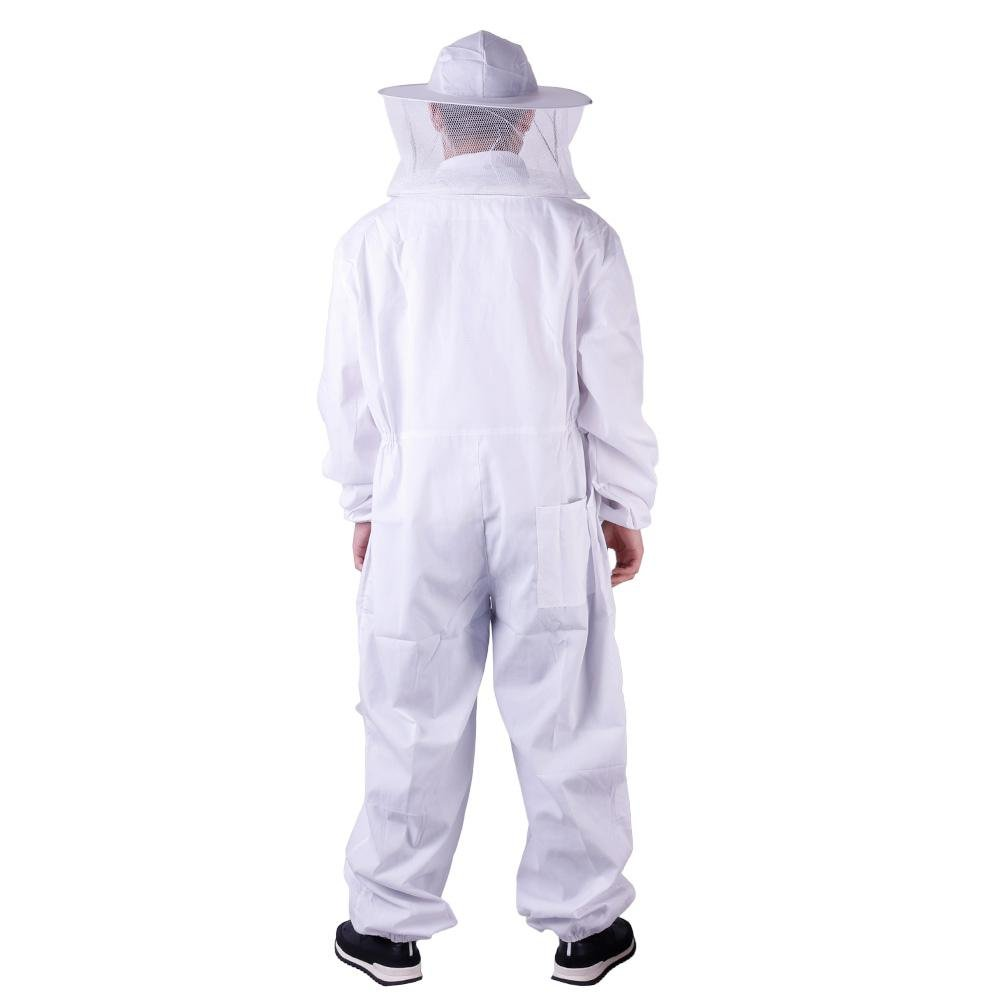 Niome Direct Beekeeping Jacket Veil Bee Keeping Suit Hat Pull Over Smock Protective Equipment L(180CM-190CM)
