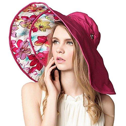Large Rose Sun Hat - 9