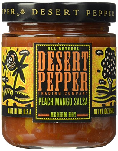 (Desert Pepper, Mango Peach Salsa, 16 oz)