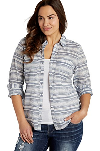Maurices-Womens-Plus-Size-Lightweight-Button-Down-Striped-Shirt