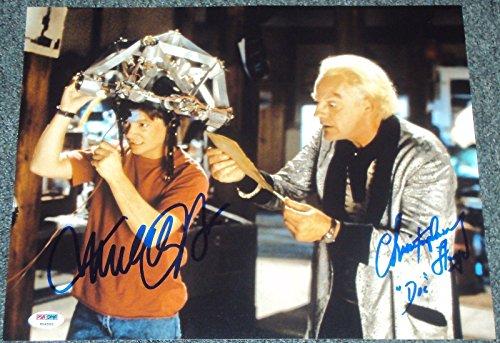 (Michael J Fox Christopher Lloyd Signed