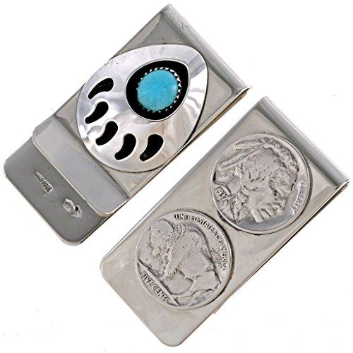 Buffalo Nickel Money Clip Two Sided Navajo ()