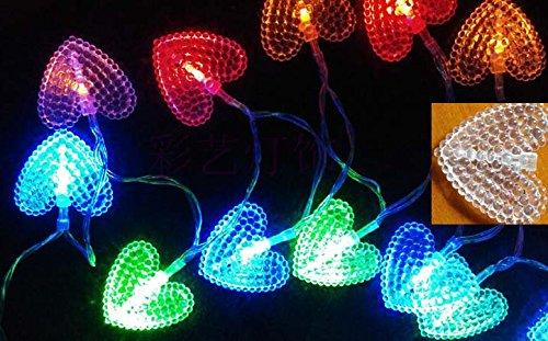 Samgu cuore party giardino catena di luci led per esterno