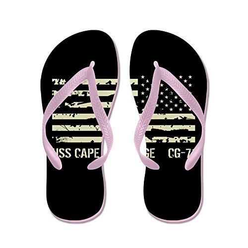 Cafepress Uss Cape St. George - Chanclas, Sandalias De Tanga Divertidas, Sandalias De Playa Rosa
