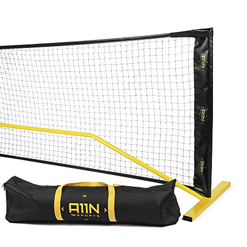 A11N Portable Pickleball Net System, Designed for All Weather Conditions with Steady Metal Frame and Strong PE Net, Regulation Size Net with Carrying Bag- 22 Wide x 36 Tall, Indoor/Outdoor Use