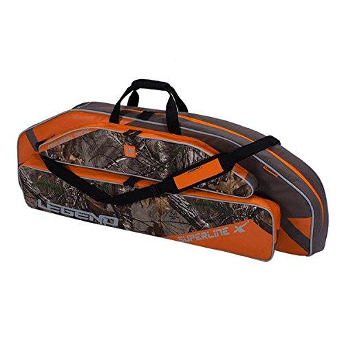 Legend Archery Superline Compound Bow Case - Backpack Shoulder with Straps - Inside Length 44'' (Orange/Realtree)
