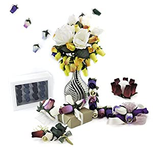 Handmade Wooden Roses for Crafts Custom Bouquets and Other Projects. Choose Form Over 50 Colors. 91