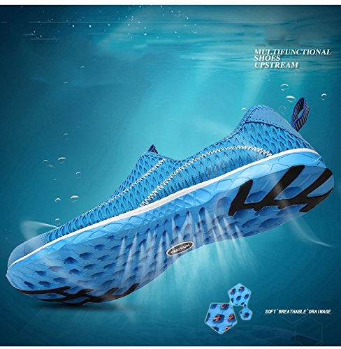 PENGCHENG Womens Water Shoes Mesh Quick Drying Aqua Lightweight Athletic Sport Outdoor Breathable Slip-On Shoes Rose wO48tIpmb