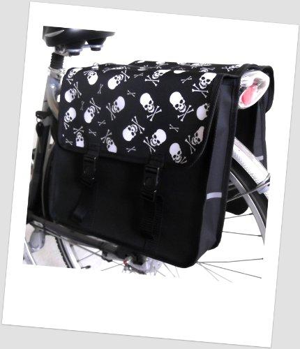 TJ-C-46 Fahrradtasche JENNY CLASSIC ROCK Colours Satteltasche Gepäckträgertasche 2 x 14 Liter bunt