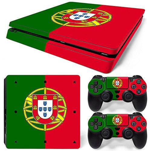 CSBC Skins Sony PS4 Slim Design Foils Faceplate Set - Portugal (Portugal Face)