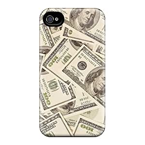 Apple Iphone 4/4s RbJ20398kAkL Allow Personal Design High Resolution Benjamins Pattern Scratch Protection Hard Phone Covers -JohnPrimeauMaurice