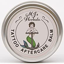 MJ's Herbals Tattoo Aftercare Balm - Two Ounce Concentrate: Organic Herbs and Oils, Salve, Ointment, Moisturizer, Handmade in Brooklyn USA, No Paraben, No Lanolin, No Gluten, No Animal Testing