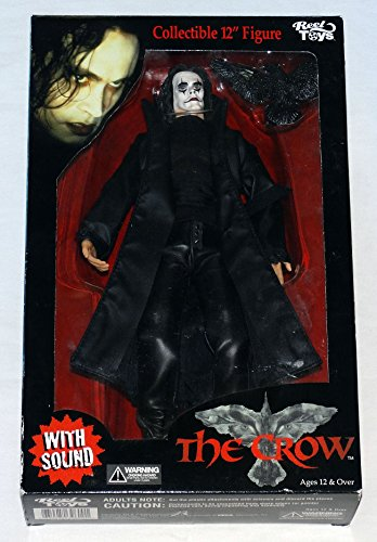 """The Crow 12"""" Figure w/Sound Still Works Reel Toys Neca 2002 Mint in Sealed Box"""