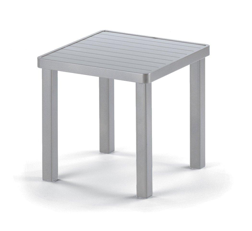 amazoncom telescope casual square aluminum slat end table 18inch textured kona frame finish patio side tables patio lawn u0026 garden - Telescope Casual Furniture