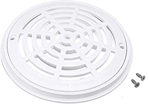 8 Inch Replacement White Universal Round Swimming Pool Main Drain Cover