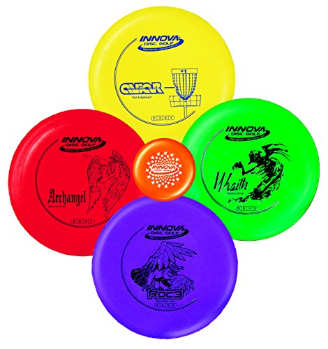 Innova Disc Golf Starter Set – Colors May Vary 160-180g – DX Putter, Mid-Range, Driver - Innova Golf Tee