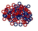 Arts & Crafts : (100 Pack) Soft Stitch Ring Markers, Red & Blue (Small size for needle sizes 0-8, for knitting/crochet/etc)