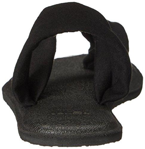 Women's Sanuk Yoga Sandal Black Triangle Dress xOWffRq0vw