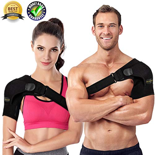 Shoulder Brace for Men and Women Rotator Cuff Brace Adjustable Shoulder Support Shoulder Sleeve Shoulder Compression Sleeve Prevention Dislocated AC Joint Labrum Tear Tendonitis