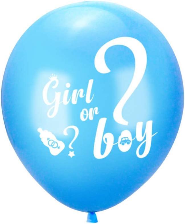 Amosfun Gender Reveal Party Supplies Kit Boy or Girl Banner Latex Quaste Ballon Papier Konfetti Pailletten f/ür Babyparty Dekoration Schwangerschaft Ank/ündigung