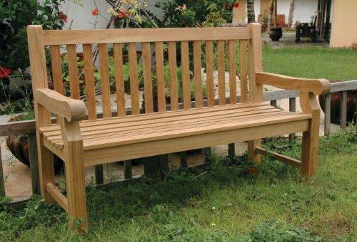 3 Seat Teak Bench - Devonshire Teak Garden Bench Seats: 3